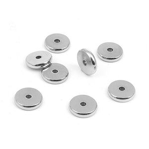 5 Stainless Steel Rondelle Spacer Beads 10mm