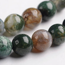 Load image into Gallery viewer, Natural Indian Agate Stone Beads Strands 4 or 6mm Round