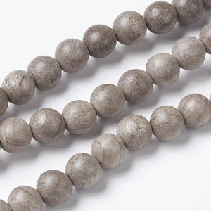 Burlywood beads 6, 8 or 10mm - Natural Mala Wooden Beads