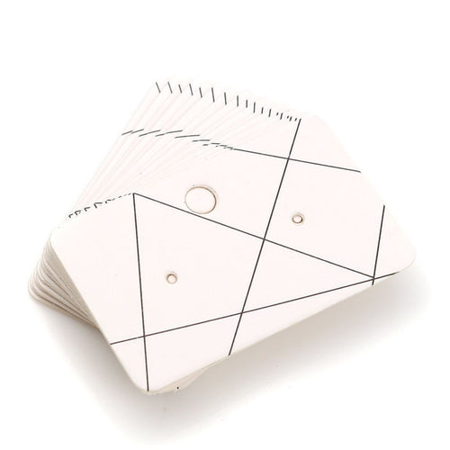 Paper Ear Studs Hang Tag Jewelry Display Card Earring - 2 inches geometric pattern rectangular cards