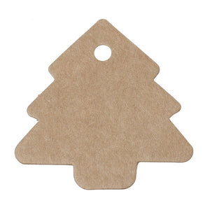 Christmas tree gift tags - blank kraft paper tags - Set of 10 or 50