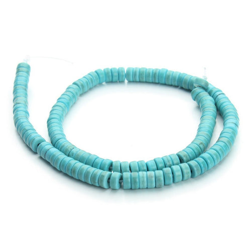 Turquoise Stone Beads Strands 6mm Rondelle