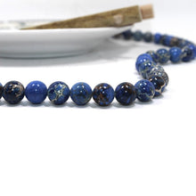 Load image into Gallery viewer, Natural Impression Jasper Blue Stone Beads Strands 4, 6 or 8mm Round
