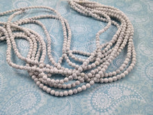 Load image into Gallery viewer, White Marbled Turquoise Stone Beads Strands 4, 6, 8 or 10mm Round