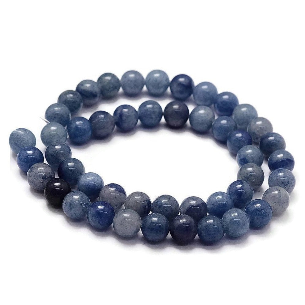 Blue Aventurine Round Stone Beads Strands 6 or 8mm