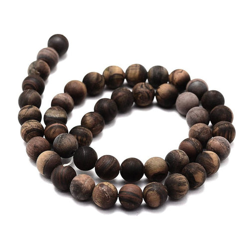 Frosted Natural Round Beads Strands 6 or 8mm - Tiger Eye