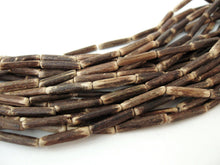 "Load image into Gallery viewer, Wood CocoNut Beads - Eco Friendly Tube Beads 15-20mm - 30"" strand"
