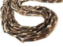 "Load image into Gallery viewer, Wood CocoNut Beads - Eco Friendly Tube Beads 15mm - 30"" strand"