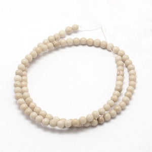 Natural Petrified Wood Stone Beads Strands 4mm Round