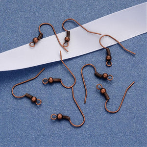 Earring hooks - Copper - Nickel free, lead free and cadmium free earwire
