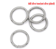 Load image into Gallery viewer, Hypoallergenic Silver JumpRings 8mm - 500pcs Wholesale or 50 pcs Stainless Steel Jump Rings