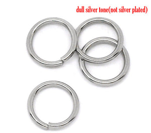 Hypoallergenic Silver JumpRings 8mm - 500pcs Wholesale or 50 pcs Stainless Steel Jump Rings