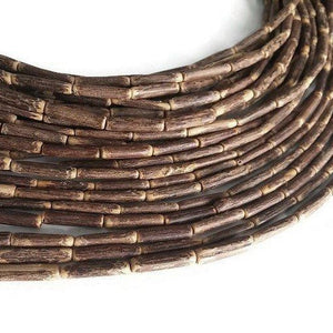 "Sigid Vine Wood Tube Beads - Eco Friendly Tube Beads 16mm - 16"" strand"