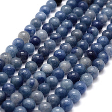 Load image into Gallery viewer, Blue Aventurine Round Stone Beads Strands 6 or 8mm