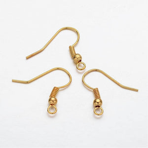 Earring hooks - Gold - Nickel free, lead free and cadmium free earwire