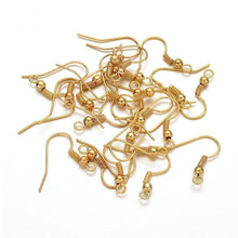Load image into Gallery viewer, Earring hooks - Gold - Nickel free, lead free and cadmium free earwire