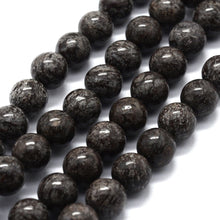 Load image into Gallery viewer, Natural Snowflake Obsidian Round Beads Strands 6 or 8mm