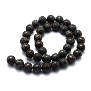 Natural Snowflake Obsidian Round Beads Strands 6 or 8mm