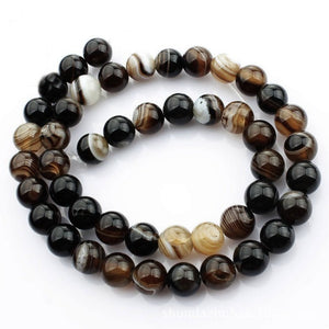Natural Lace Agate Stone Beads Strands 4, 6 or 8mm Round