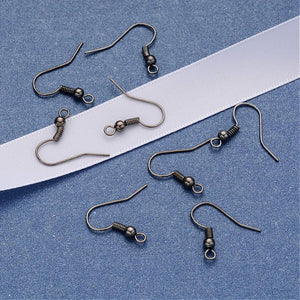 Earring hooks - Gunmetal - Nickel free, lead free and cadmium free earwire