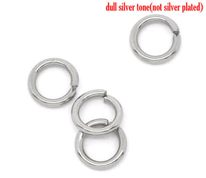 Stainless steel jump ring hypoallergenic silver jump ring 6mm - 500pcs Wholesale or 50 pcs