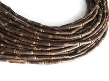"Load image into Gallery viewer, Sigid Vine Wood Tube Beads - Eco Friendly Tube Beads 16mm - 16"" strand"