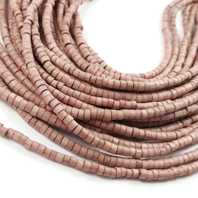 Rosewood beads 5mm - Natural Mala Wooden Beads - Heishe
