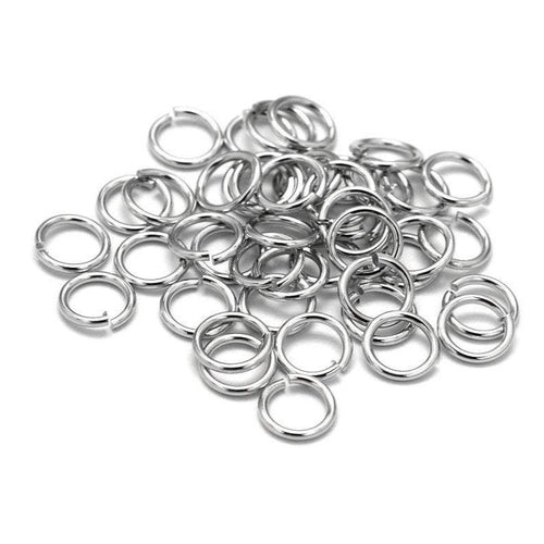 Brass jump ring hypoallergenic silver jump ring 5mm - 100pcs - Nickel free, lead free and cadmium free