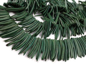 Green Wood Stick Beads - coconut indian stick 2 inch - 25pcs