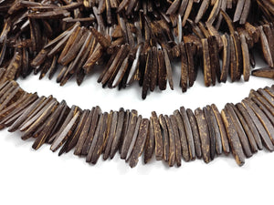 Brown Wood Stick Beads - coconut indian stick 1 inch