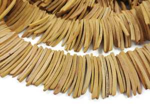 Yellow Wood Stick Beads - coconut indian stick 1 1/2 inch - 30pcs