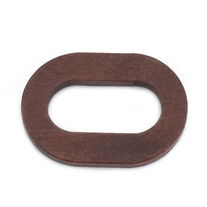 Wood connector oval 35x25mm - Set of 2