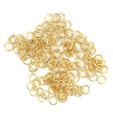 Load image into Gallery viewer, Stainless steel jump ring hypoallergenic gold jump ring 3, 4, 5 or 6mm - 200pcs