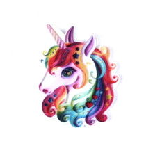 Load image into Gallery viewer, Unicorn embellishments, resin cabochon, rainbow unicorn