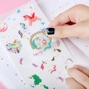 Unicorn sticker pack - 6 sheets of cute stickers