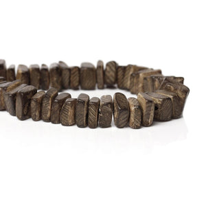 Brown Wood CocoNut Shell Beads - Square cut beads 9mm