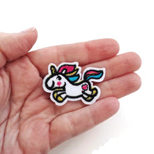 Load image into Gallery viewer, Cute rainbow unicorn iron on patches, embroidered patch, sew on patch