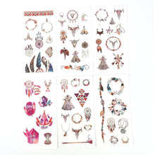 Load image into Gallery viewer, Dreamcatcher sticker pack - 6 sheets of boho stickers
