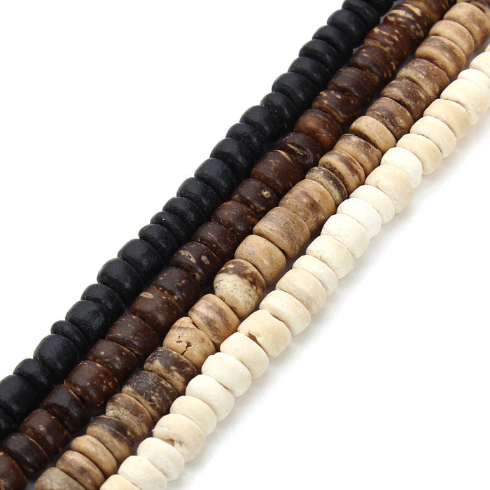 Coconut Wood Beads 5mm - 1 strand 38cm (15