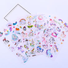 Load image into Gallery viewer, Unicorn sticker pack - 6 sheets of cute stickers