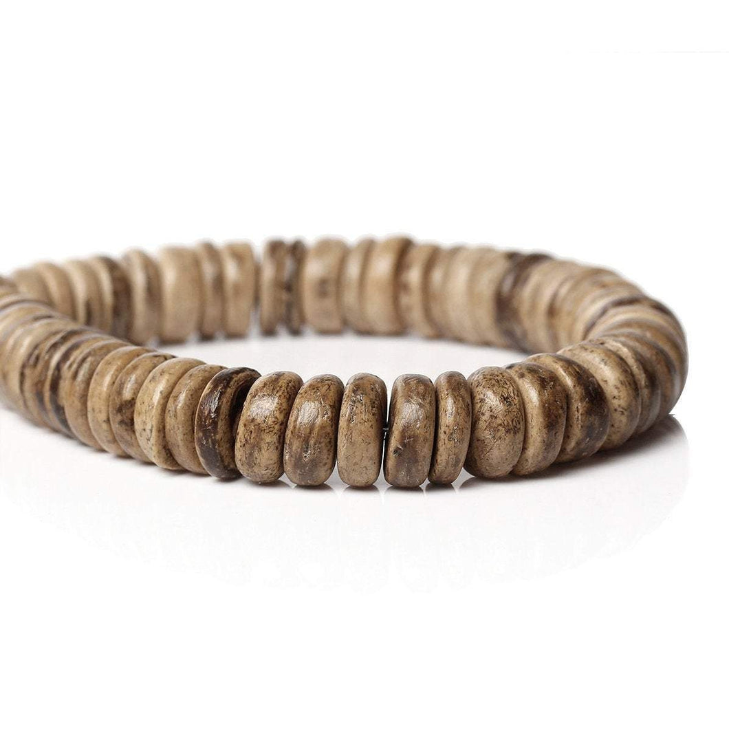 100 Coconut shell beads - Eco friendly donuts rondelle disk beads 10mm