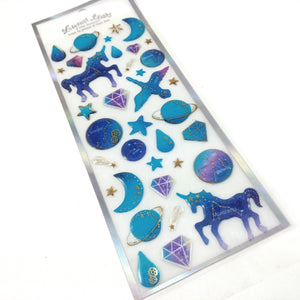 Unicorn stickers - 1 sheet of PVC decorations