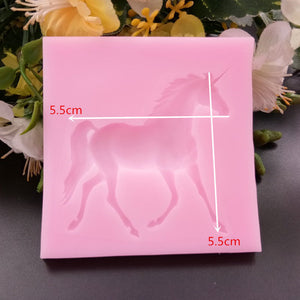Unicorn silicon mold, DIY cake decoration, candy & resin jewelry making