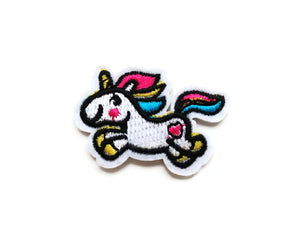 Cute rainbow unicorn iron on patches, embroidered patch, sew on patch