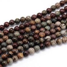 Load image into Gallery viewer, Natural Picasso Stone Beads Strands Colorful Round 4mm
