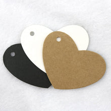 Load image into Gallery viewer, Heart gift tags - blank kraft paper tags - Set of 10 or 50