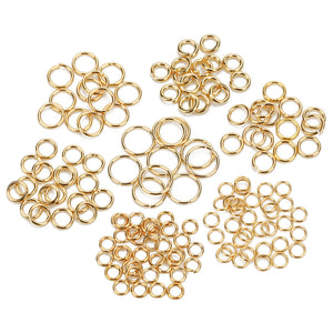 Stainless steel jump ring hypoallergenic gold jump ring 4, 5 or 8mm - 100pcs