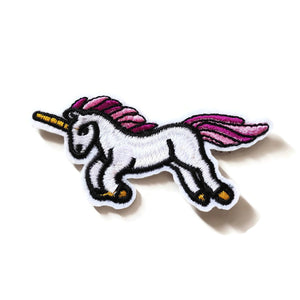 Unicorn iron on patches, embroidered patch, sew on patch