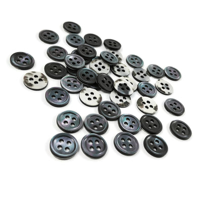 Trochus Shell Buttons 11 or 15mm - set of 6 eco friendly grey buttons