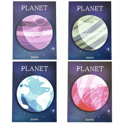Choose your planet paper sticky notes, sticky notepad, celestial to do list